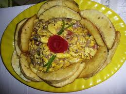 Ackee and Saltfish with Breadfruit