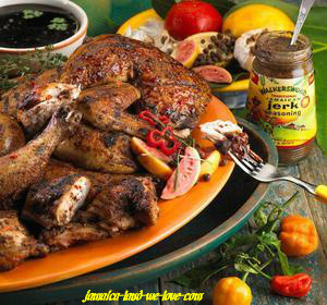 Jamaican Spicy Jerked Chicken