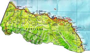 Portland Jamaica Map