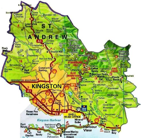Saint Andrew Jamaica Map