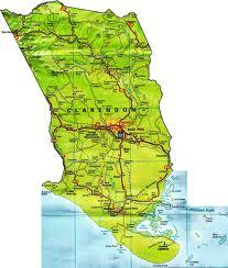 Map of Clarendon Jamaica