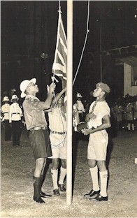 Independence Day Flag Raising August 6, 1962
